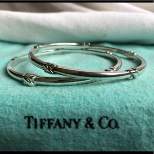 """5354e0a3a Tiffany & Co. Sterling Silver """"Signature"""" Bangle"""
